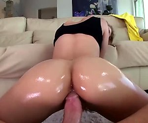 His monster cock makes her slutty mouth drool