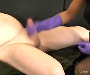 handjob with rubber gloves 3