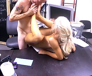Katerina Kay keeps her job by fucking the boss