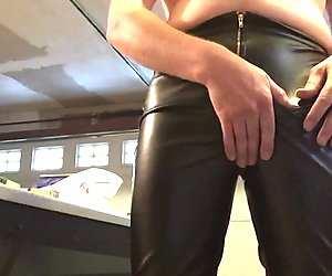 New shiny skintight leather