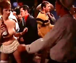Topless Dancing at a Costume Party (1960s Vintage)