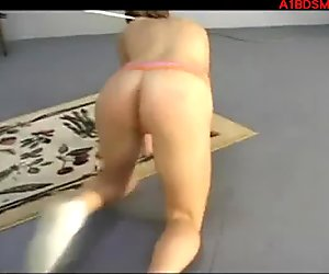 Blonde Girl Walking Like A Dog Getting Tied And Plug To Butt By Master In The Dungeon