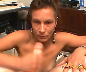 Hot mature immediately gets down to some cock sucking action