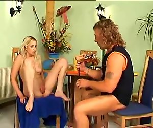 nice blonde girl pussy pumping and just hard fucked