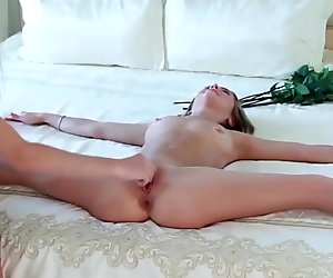 skinny real flexible doll stretched