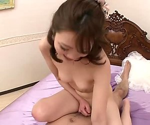 Foxy Japanese babe Tomoka Sakurai hops on horny dick in cowgirl style
