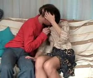 Unattractive mamma with petite mambos & bushy cum-hole in hose
