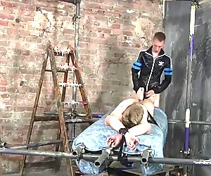 Nicki Smiles was stripped and bound for an amazing handjob