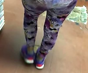 See through legging tease at local store