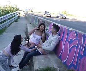 CHICAS LOCA - Wild public sex with lusty Peruvian babe