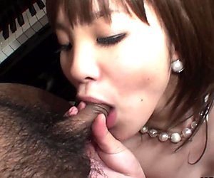 Fucking a hot brunette Asian slut threesome style