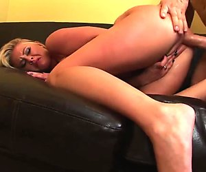 Blonde Bimbo Sees The Shrink To Help Him Relax With Some Hot Sex