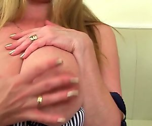 Big titted milf Lily from the UK works her puffy cunt