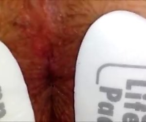 Male Orgasm Contractions w Anal E-Stim