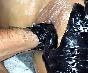 fist anal and vaginal with a friend