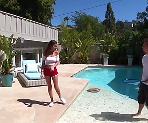 Teens explore sexuality first time Nina North Fucks The Pool Man