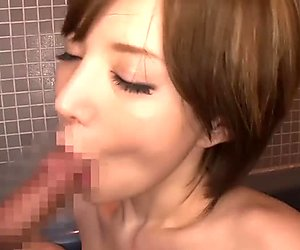 Bathroom action with an amazing Japanese girl