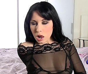 Dark haired chick is ready for naughty action