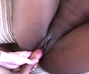 Ebony anal fucking ends in massive facial