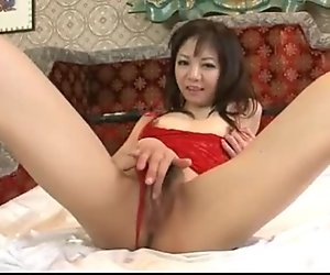 Extreme solo with milf in lingerie Hikaru Ao