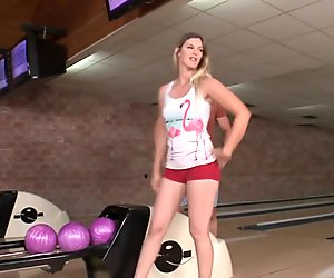 Bigass babe pounded after bowling