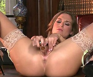 Sassy Adrienne Manning torments her dripping wet snatch
