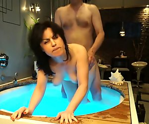 Quickie in the hot tub is awesome