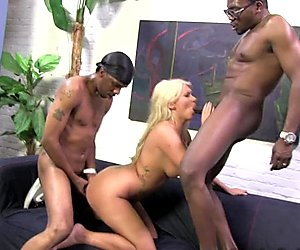 Threeway interracial group