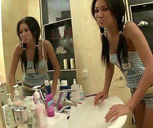camila bathroom sexy exotic teen tease