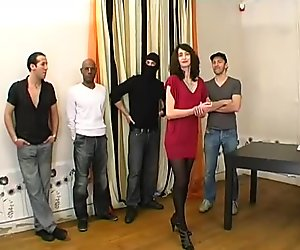 Punished by a gangbang by her husband