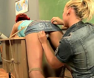 Ass spanking session with hot lesbo gals Kathia Nobili and Patricia Gold
