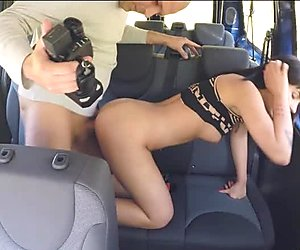 Teen Bella Beretta pussy pounded and mouthful of cum