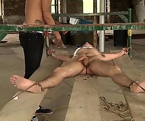 Johnny gets blindfolded and drained dry