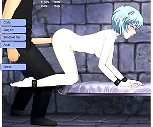 Rei Ayanami from Evangelion deepthroated, fucked and dominated in SDT