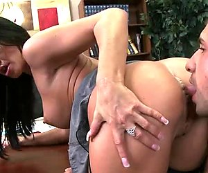 Man sucks and lick the boobs and pussy of horny Savannah Stern