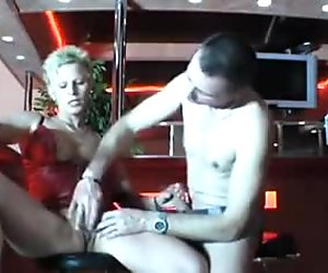 Pretty german mature gets fucked in a club